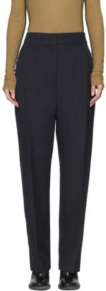 Joseph Navy Canvas Haim Tailoring Trousers