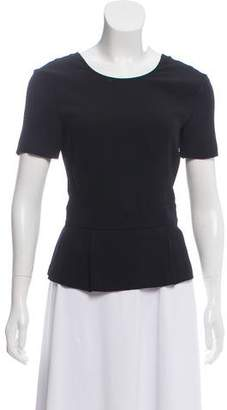 A.L.C. Pleated Short Sleeve Blouse