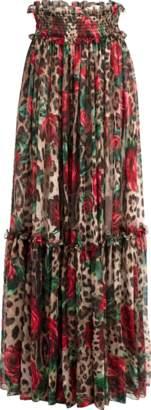 Dolce & Gabbana Leopard Print Pull On Pant