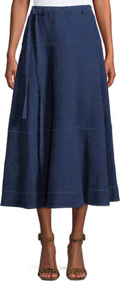 Elizabeth and James Leila Seamed Cotton Midi Skirt