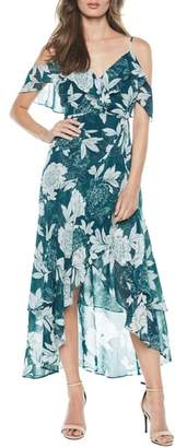 Bardot Garden Party Floral Cold Shoulder Maxi Dress