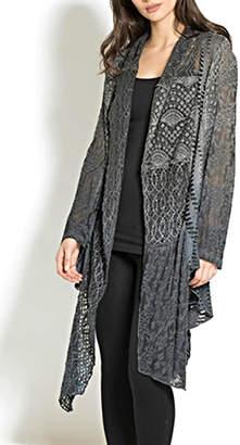 Adore Multifabric Assymetrical Cardigan
