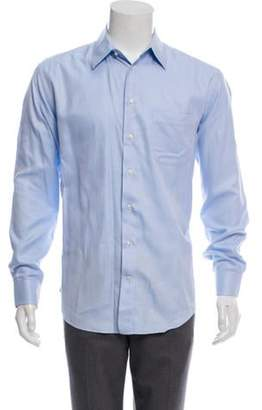Armani Collezioni Pinstriped Dress Shirt blue Pinstriped Dress Shirt