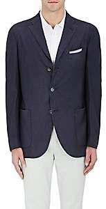 Boglioli Men's Wool Hopsack Three-Button Sportcoat-Navy