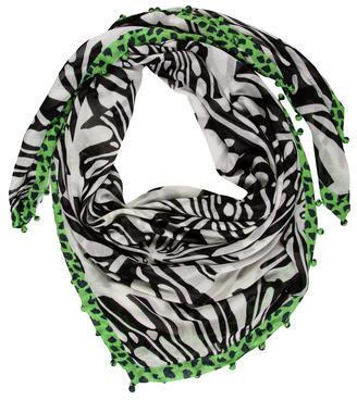 Diane von Furstenberg Multicolor Abstract Scarf $65 thestylecure.com