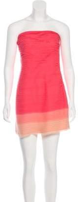 Alice + Olivia Strapless Mini Dress