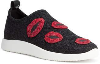 Giuseppe Zanotti Alena Bouche Black Glitter Sneakers