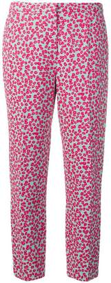 Escada leopard-jacquard trousers