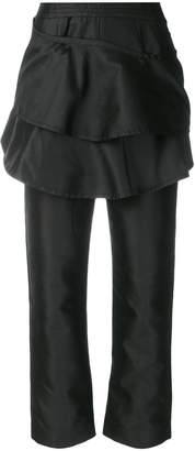 Isa Arfen ruffled cropped trousers