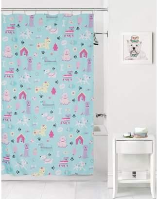 Mainstays Kids Puppy Love Coordinating Fabric Shower Curtain