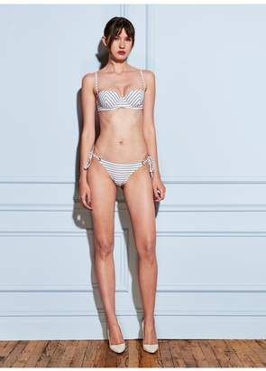 Fleur Du Mal Mitered Stripe Balconette Bikini Top