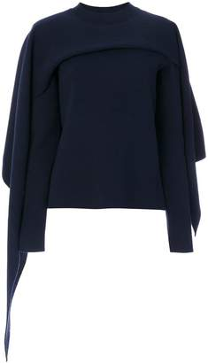 J.W.Anderson layered cape style sweater