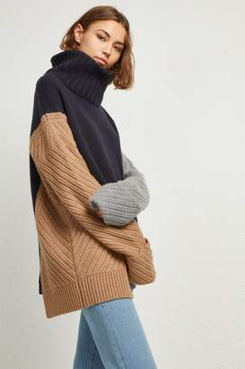 French Connenction Viola Knit High Neck Jumper