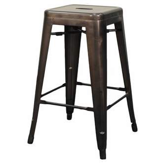 NPD Metropolis Stackable Metal Backless Counter Stool (Set of 4), Multiple Colors