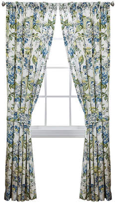 Waverly Floral Engagement 2-Pack Rod-Pocket Lined Curtain Panels