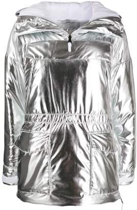 Napapijri metallic ruched hoodie