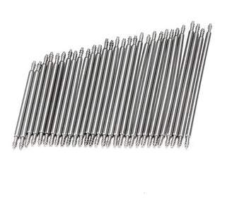 Grtsunsea Lot 30pcs Mixed Sizes 23-37mm Stainless Steel Watch Band Spring Bars Strap Link Pins