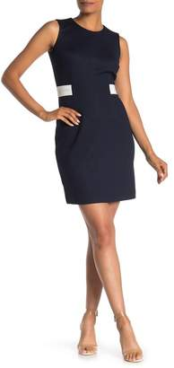 Amanda & Chelsea Side Tab Textured Dress