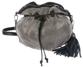 Rebecca Minkoff Leather-Trimmed Chainmail Bucket Bag