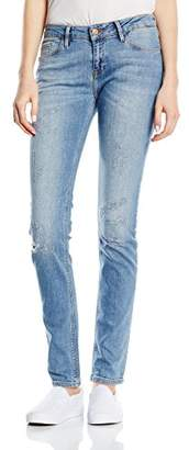 Cross Women's Skinny Jeans Blue Blau (Light Blue Destroyed 190)