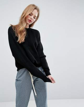 Asos Jumper In Fluffy Yarn With Crew Neck