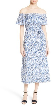 Women's Rebecca Taylor Off The Shoulder Midi Dress $475 thestylecure.com