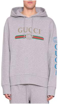 Gucci Embroidered Cotton Hoodie