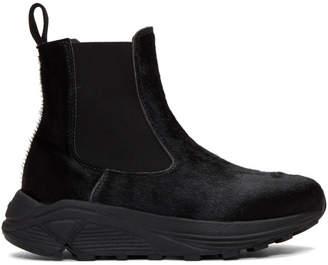 Diemme Black Calf-Hair Verona Chelsea Boots