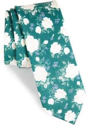 The Tie Bar Hodgkiss Flowers Linen Tie