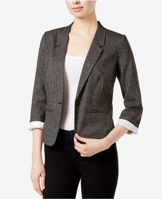 kensie Tweed One-Button Blazer $99 thestylecure.com