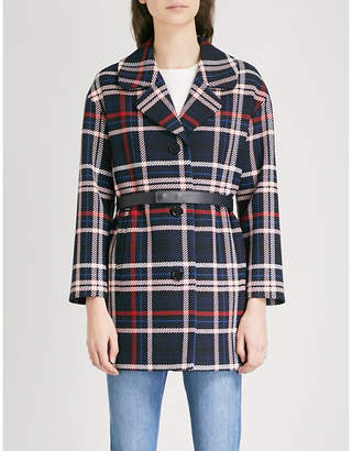 Claudie Pierlot Gatina checked woven coat