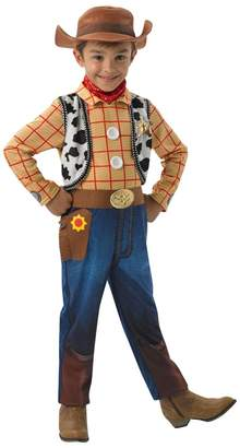 Rubie's Costume Co Boys Disney Toy Story 4 Deluxe Woody Fancy Dress Costume - Yellow