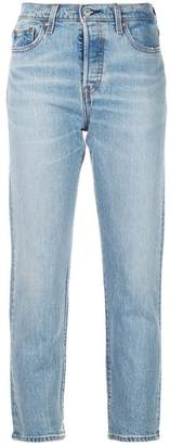 Levi's crop tapered jeans