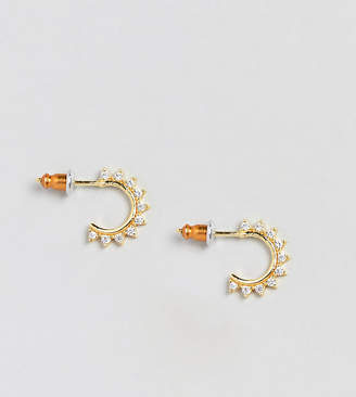 Accessorize (アクセサライズ) - Accessorize gold plated half hoop earrings