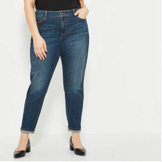Joe Fresh Women+ Classic Slim Jean, Dark Vintage (Size 16)