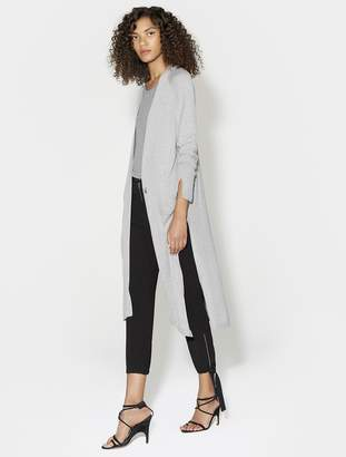 Halston LONG SLEEVE DUSTER CARDIGAN WITH SIDE SLITS