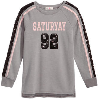 Kandy Kiss Saturyay Sequin-Detail Sweatshirt, Big Girls