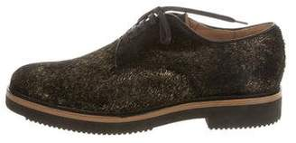 Dries Van Noten Metallic Ponyhair Oxfords w/ Tags