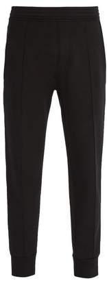 Neil Barrett Side Stripe Jersey Track Pants - Mens - Black White