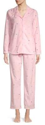 Two-Piece Star-Print Pajama Set