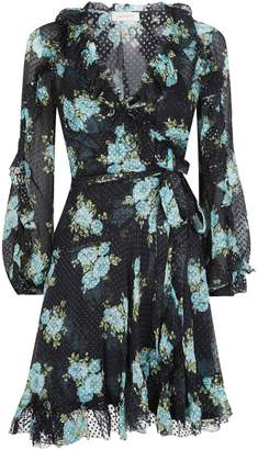 Zimmermann Floral Whitewave Wrap Dress