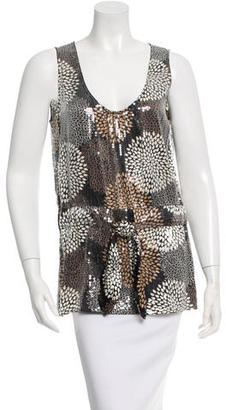 Tory Burch Sequin Embellished Silk Top w/ Tags $115 thestylecure.com