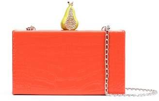 Edie Parker embellished croc-effect clutch
