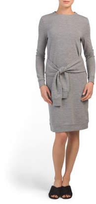 Juniors Athleisure Tie Front Knit Dress