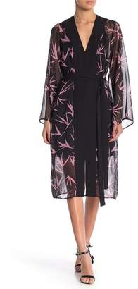BCBGMAXAZRIA Printed Robe Dress