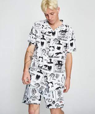 MISFIT Large By Night Short Sleeve Shirt