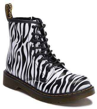 Dr. Martens Delaney Zebra Print Boot (Little Kid & Big Kid)