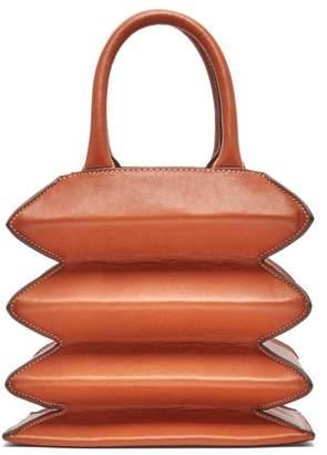 STAUD Hutton Accordion Leather Bag - Womens - Brown
