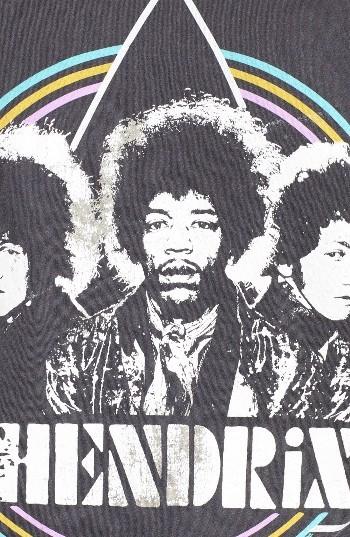 Women's Junk Food Jimi Hendrix Graphic Tee 4