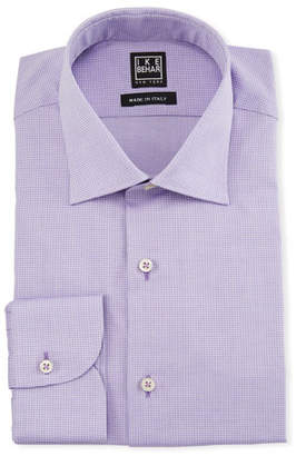 Ike Behar Men's Textured Cotton Dress Shirt